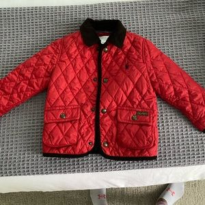 Quilted red Ralph Lauren jacket size 24 months